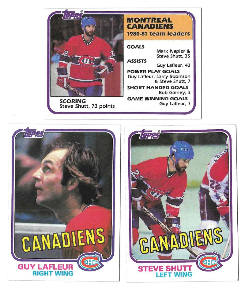 1981-82 Topps Hockey Team Set - Montreal Canadiens