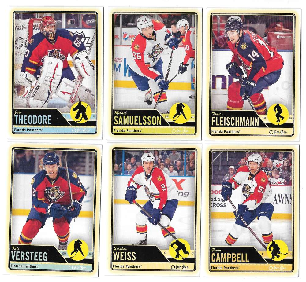 2012-13 O-Pee-Chee (1-500) Hockey Team Set - Florida Panthers