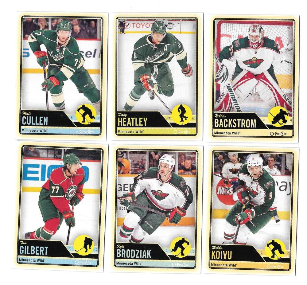 2012-13 O-Pee-Chee (1-500) Hockey Team Set - Minnesota Wild