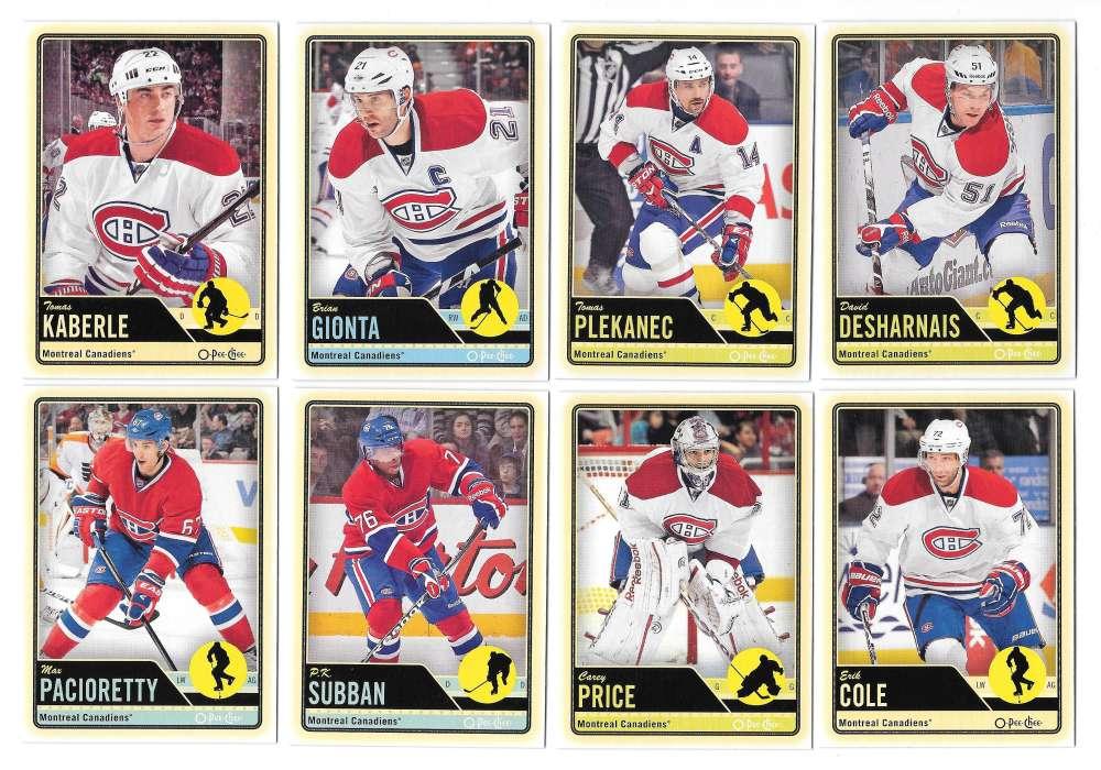 2012-13 O-Pee-Chee (1-500) Hockey Team Set - Montreal Canadiens