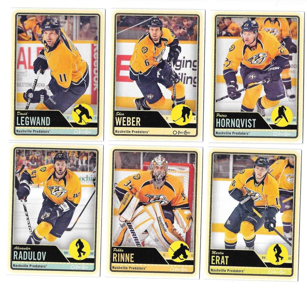 2012-13 O-Pee-Chee (1-500) Hockey Team Set - Nashville Predators