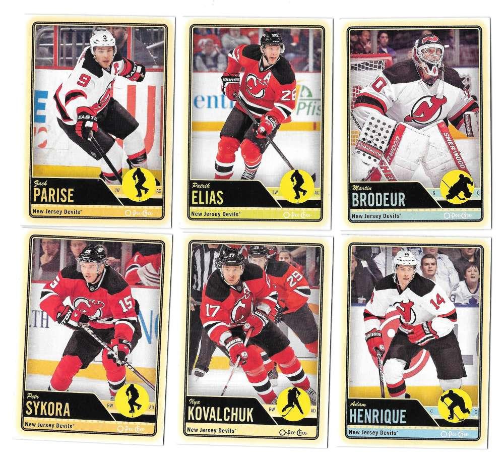 2012-13 O-Pee-Chee (1-500) Hockey Team Set - New Jersey Devils