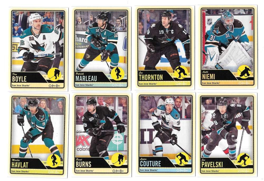 2012-13 O-Pee-Chee (1-500) Hockey Team Set - San Jose Sharks