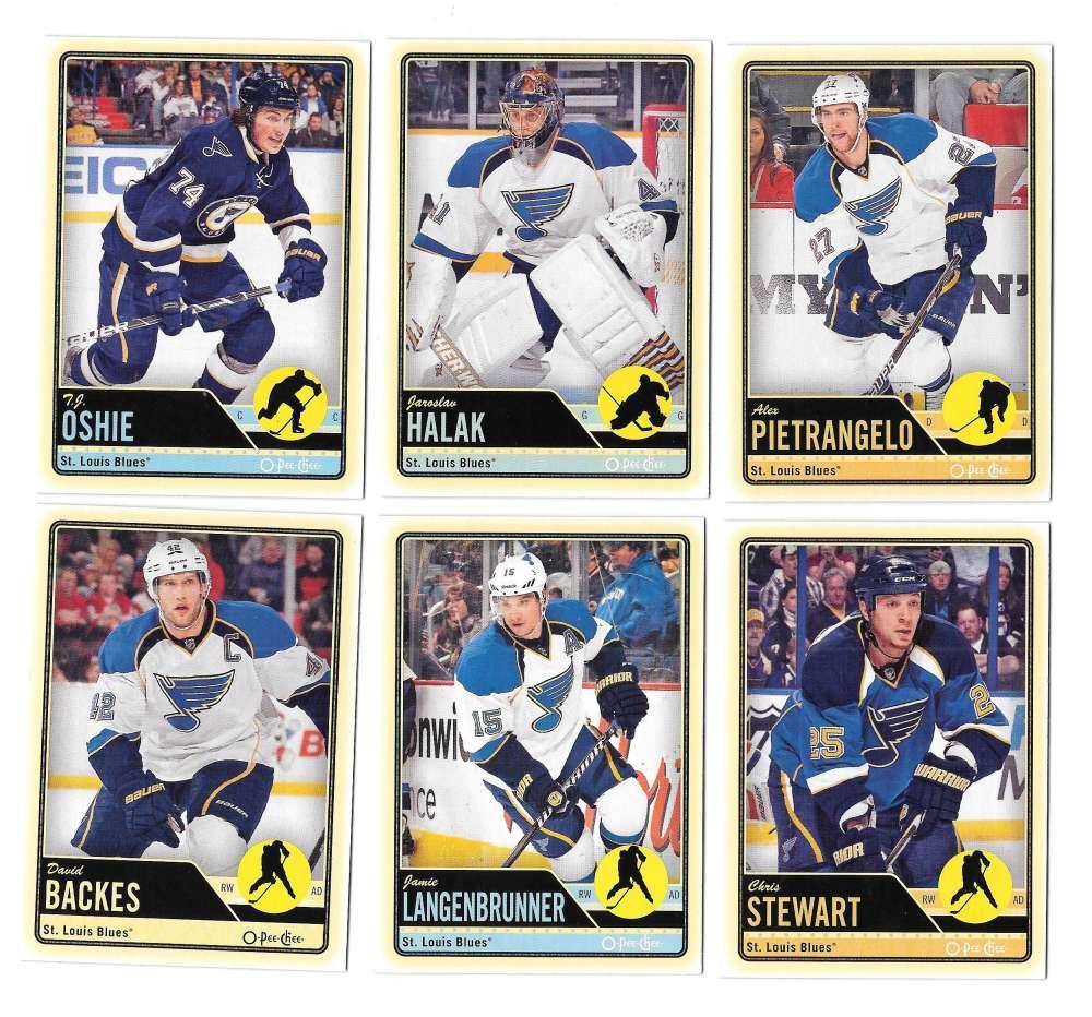 2012-13 O-Pee-Chee (1-500) Hockey Team Set - St. Louis Blues