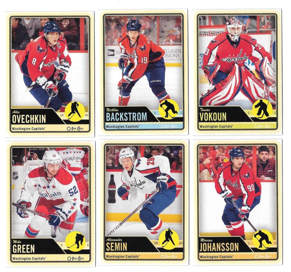 2012-13 O-Pee-Chee (1-500) Hockey Team Set - Washington Capitals