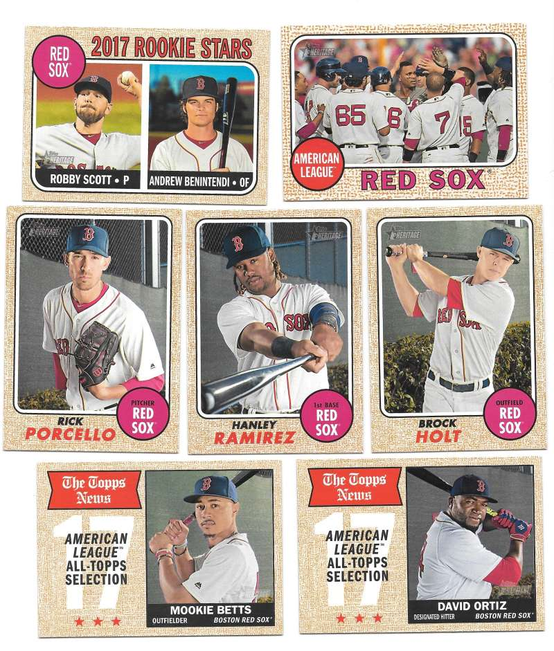 2017 Topps Heritage (1-400) - BOSTON RED SOX Team Set