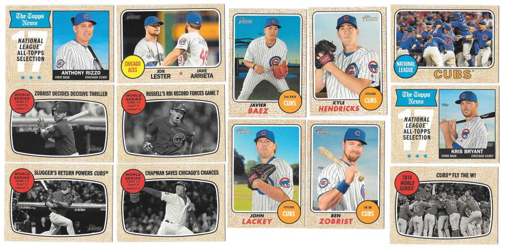 2017 Topps Heritage (1-400) - CHICAGO CUBS Team Set
