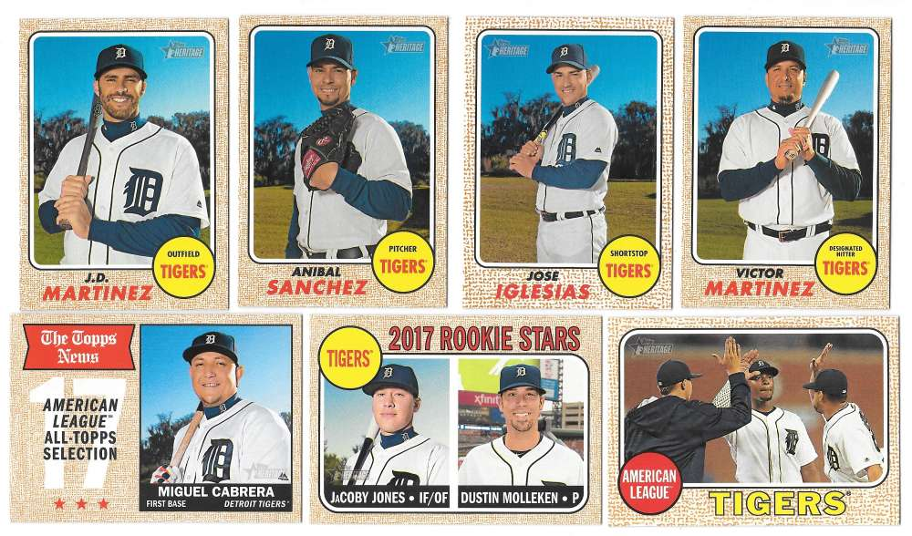 2017 Topps Heritage (1-400) - DETROIT TIGERS Team Set