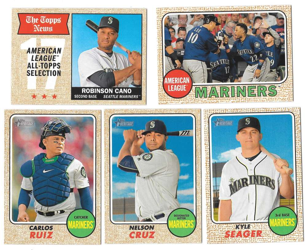 2017 Topps Heritage (1-400) - SEATTLE MARINERS Team Set