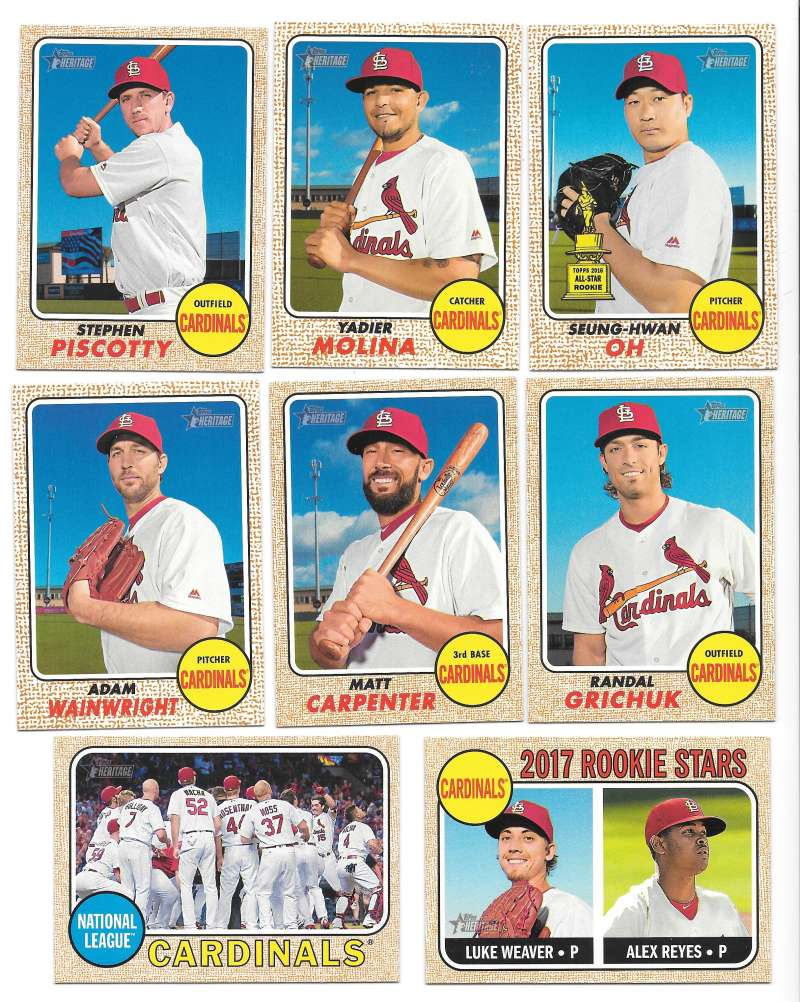 2017 Topps Heritage (1-400) - ST LOUIS CARDINALS Team Set
