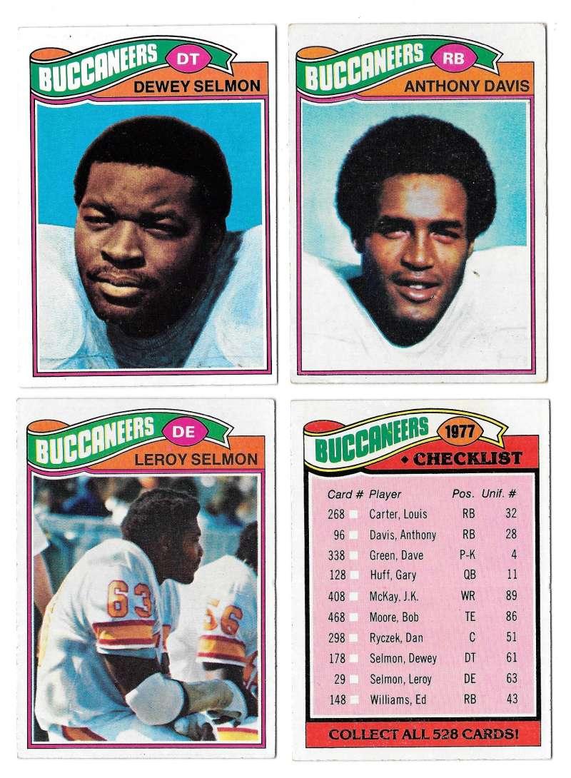 1977 Topps Football (C) Team Set - TAMPA BAY BUCCANEERS�