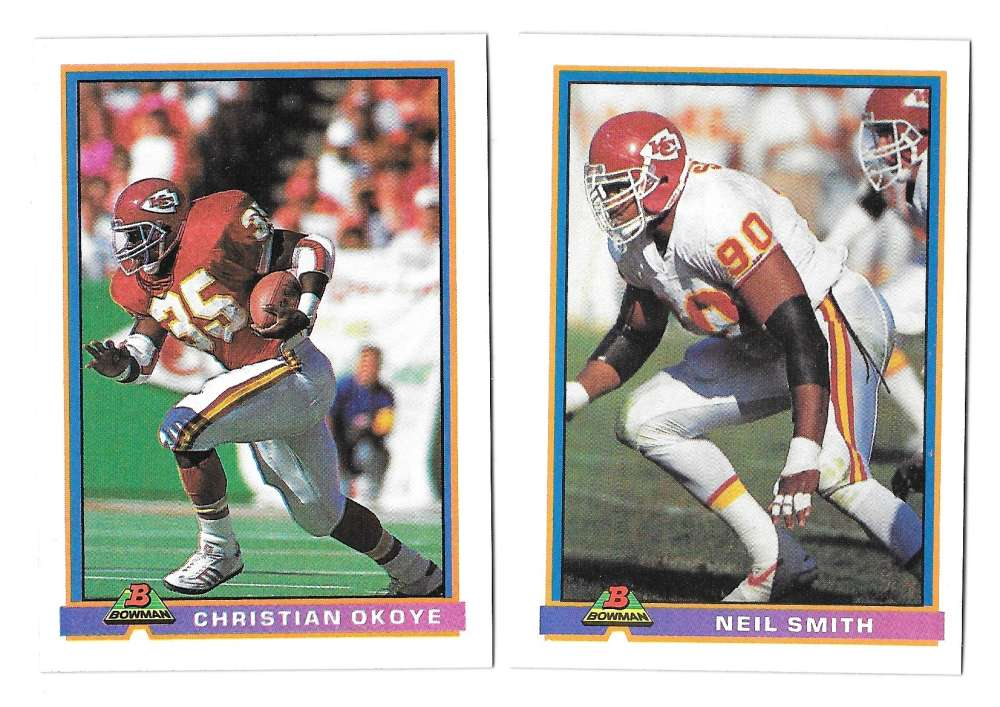 1991 Bowman Football Team Set - KANSAS CITY CHIEFS