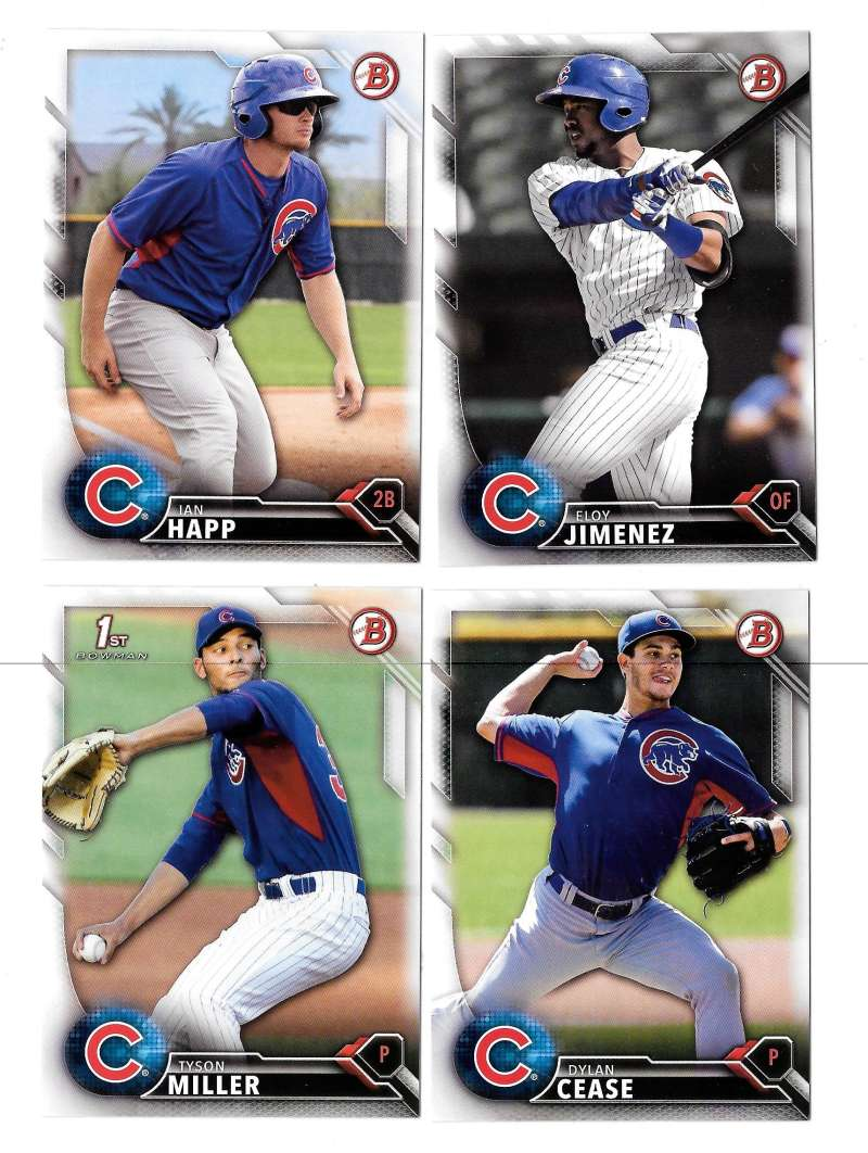 2016 Bowman Draft - CHICAGO CUBS Team Set