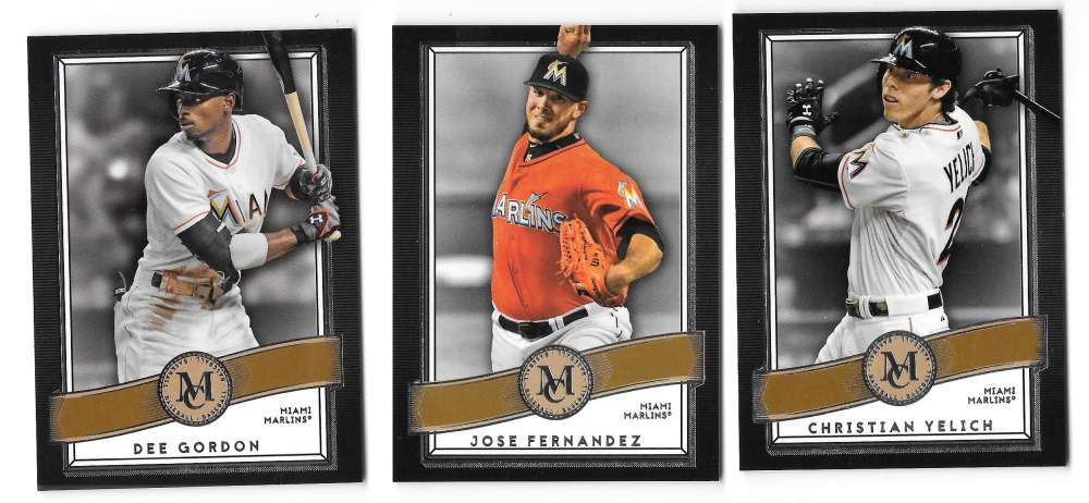 2016 Topps Museum Collection Copper MIAMI MARLINS w/o Stanton
