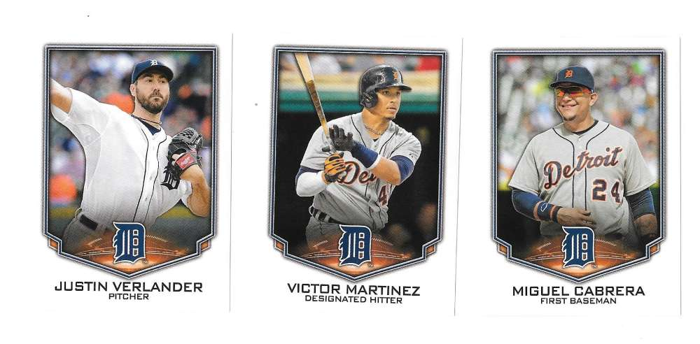 2016 Topps Stickers - DETROIT TIGERS Team Set