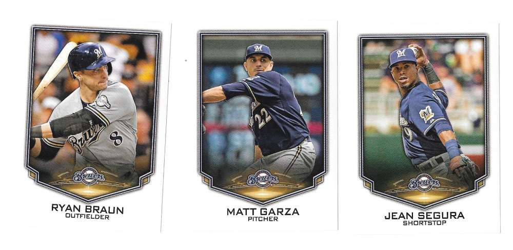 2016 Topps Stickers - MILWAUKEE BREWERS Team Set