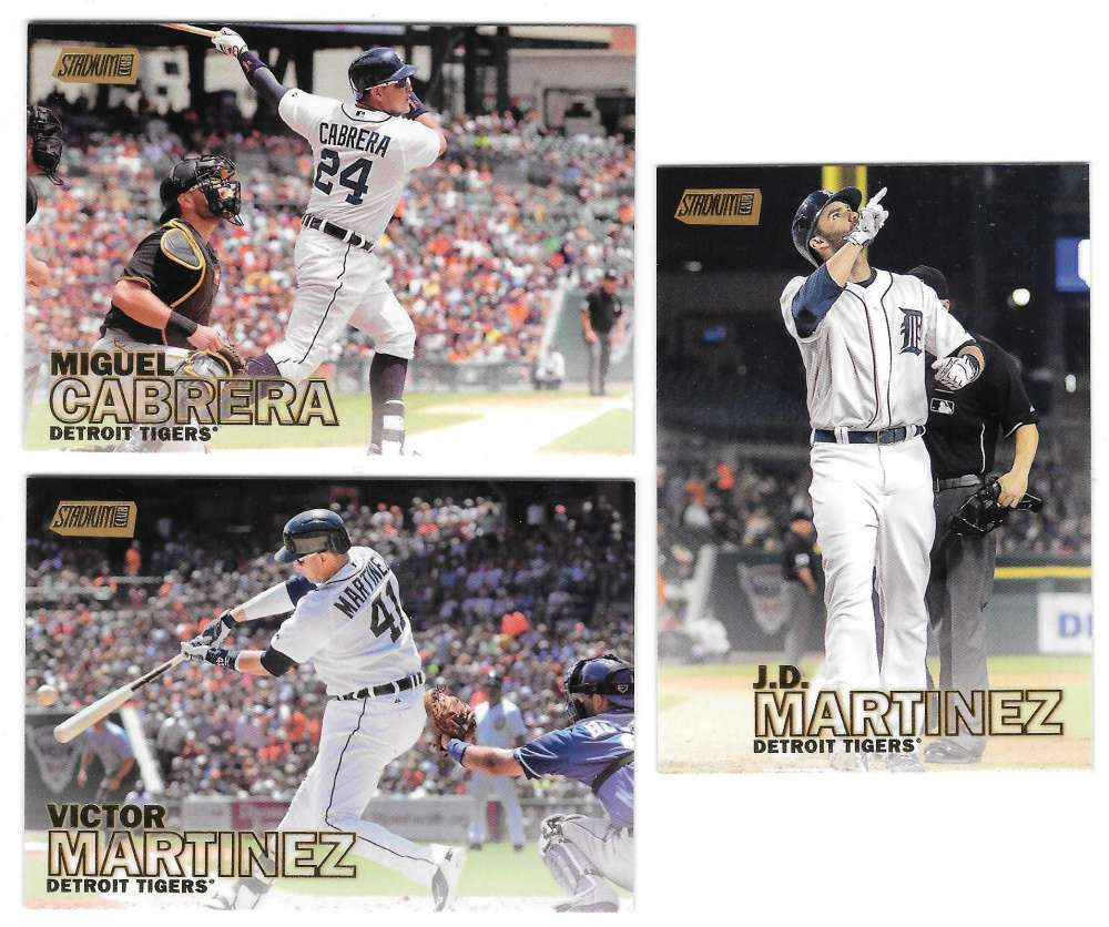 2016 Topps Stadium Club GOLD - DETROIT TIGERS Team Set