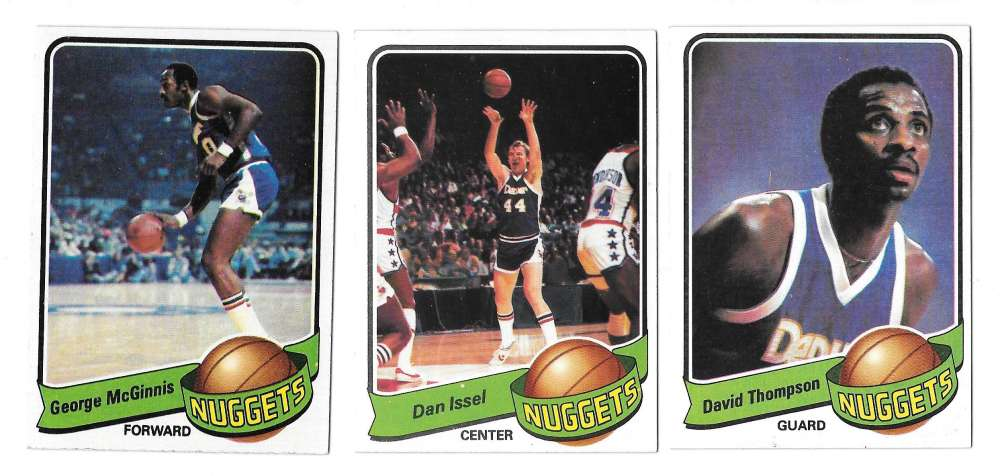1979-80 Topps Basketball Team Set - Denver Nuggets