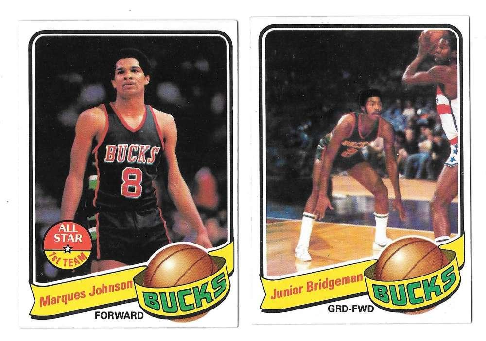 1979-80 Topps Basketball Team Set - Milwaukee Bucks