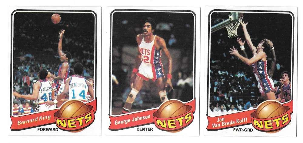 1979-80 Topps Basketball Team Set - New Jersey Nets