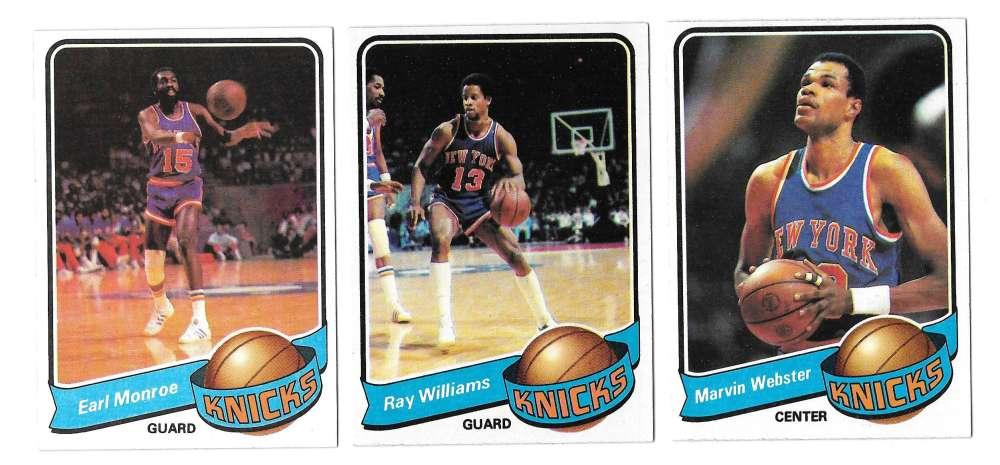 1979-80 Topps Basketball Team Set - New York Knicks
