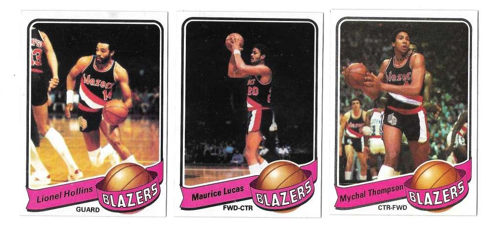1979-80 Topps Basketball Team Set - Portland Trail Blazers