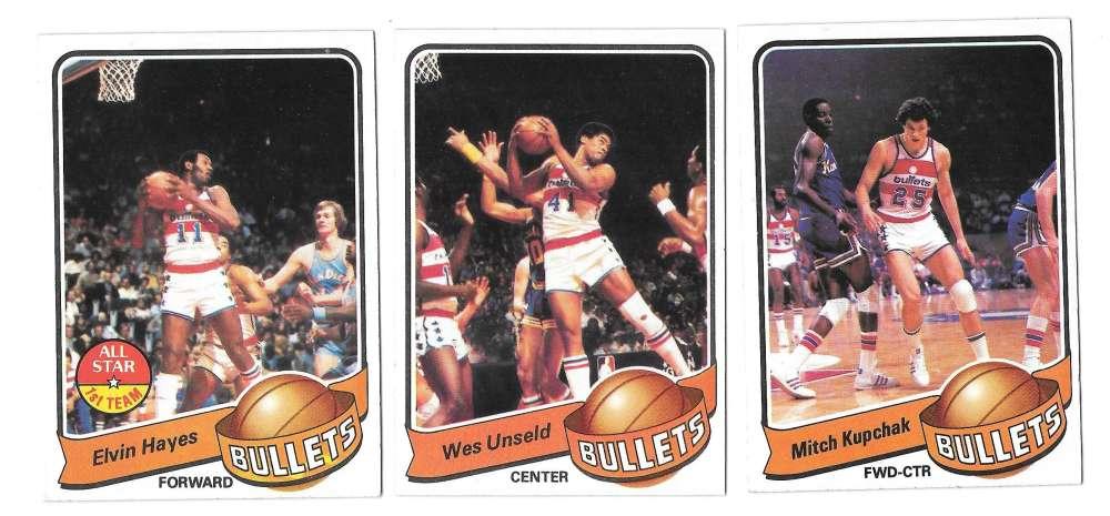 1979-80 Topps Basketball Team Set - Washington Bullets