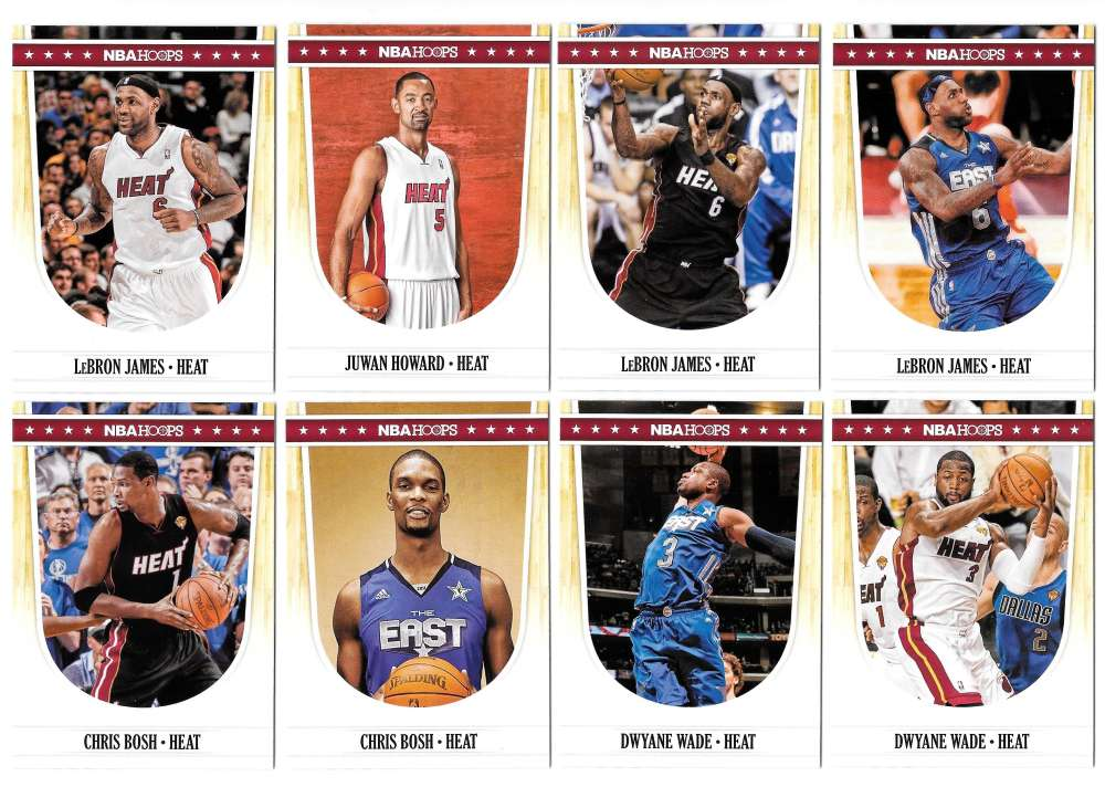 2011-12 Hoops Basketball Team Set - Miami Heat