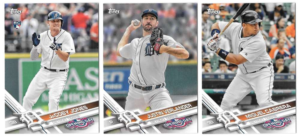 2017 Topps Opening Day - DETROIT TIGERS Team Set