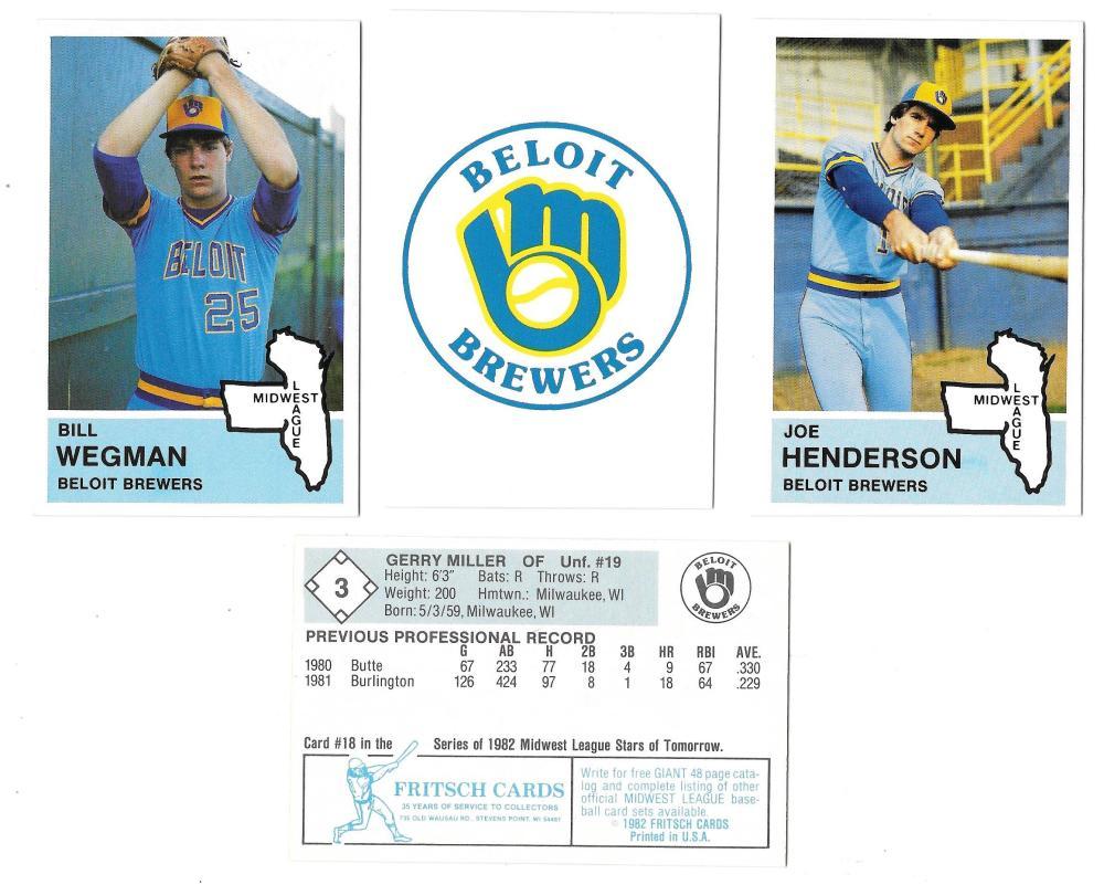 1982 Fritsch Minor league Team Set - Beloit Brewers