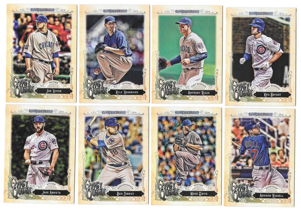 2017 Topps Gypsy Queen (1-300) - CHICAGO CUBS Team Set