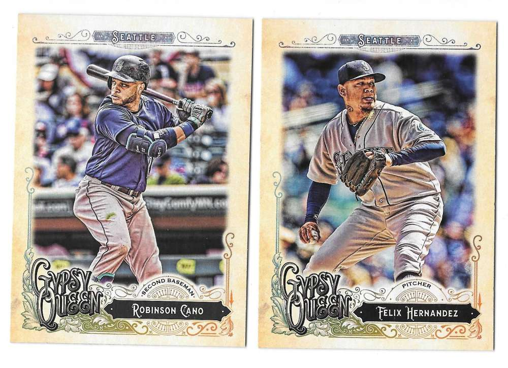 2017 Topps Gypsy Queen (1-300) - SEATTLE MARINERS Team Set