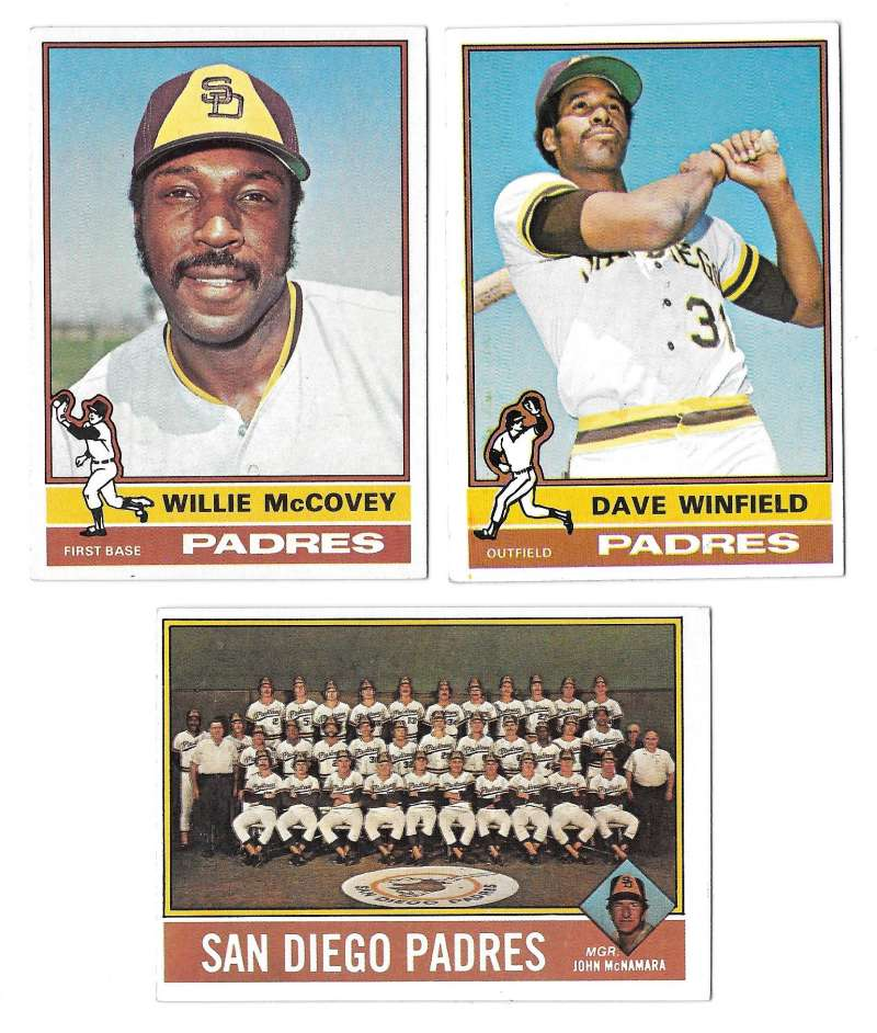 1976 Topps C EX Condition - SAN DIEGO PADRES Team Set