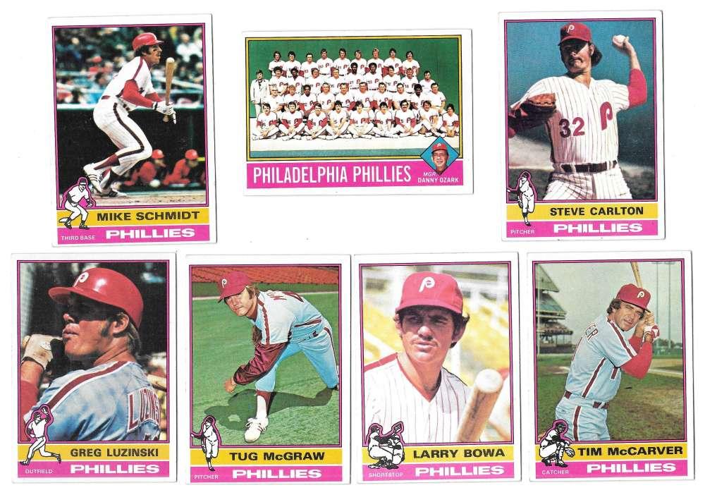 1976 Topps C EX Condition - PHILADELPHIA PHILLIES Team Set