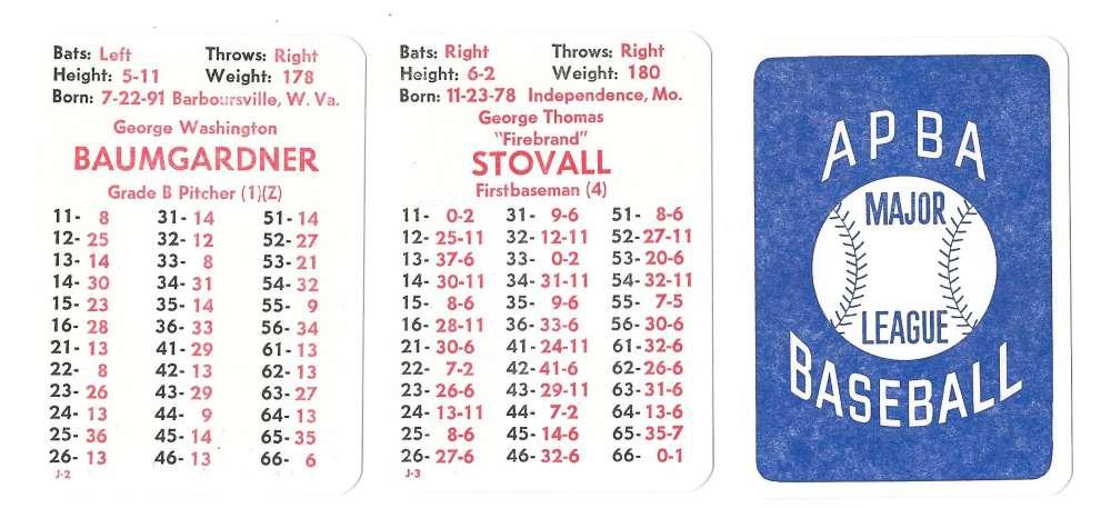 1913 APBA Season - ST LOUIS BROWNS (Orioles) Team Set