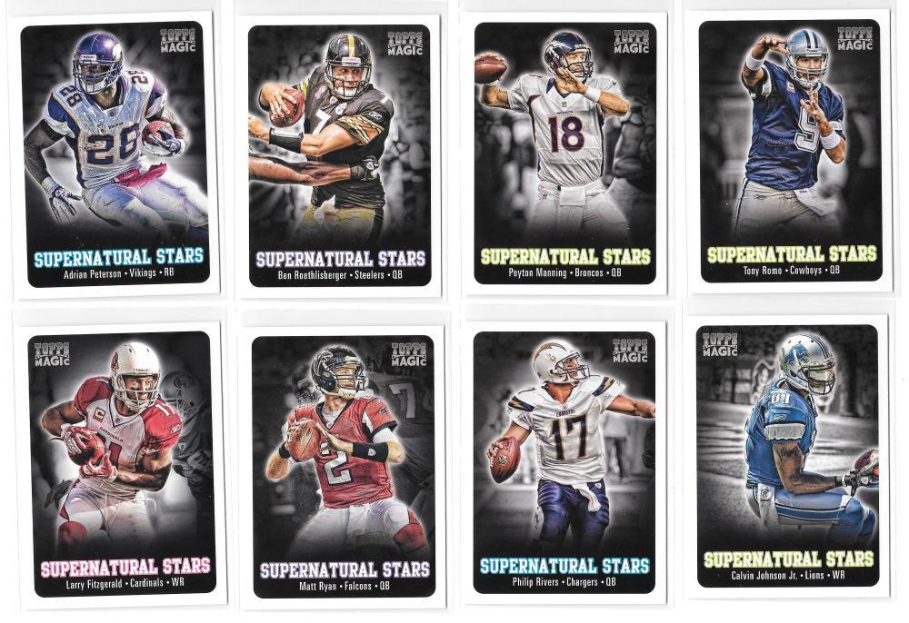 2012 Topps Magic Supernatural Stars (40 card insert Football set)