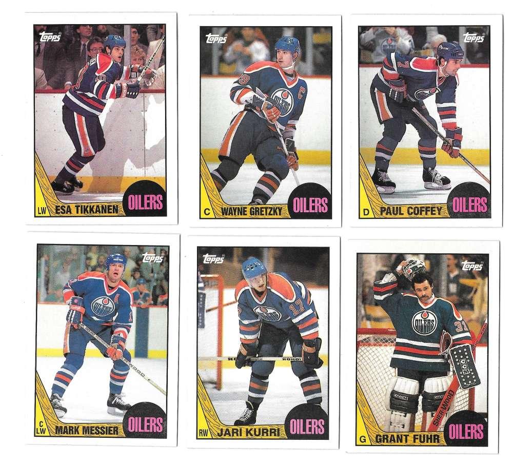 1987-88 Topps Hockey Team Set - Edmonton Oilers