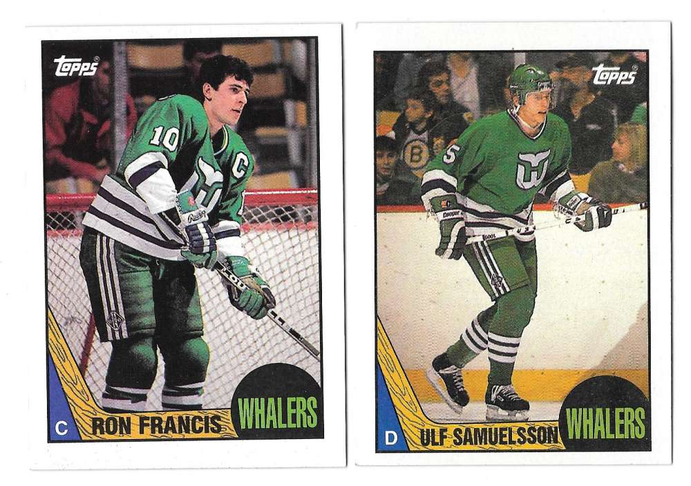 1987-88 Topps Hockey Team Set - Hartford Whalers