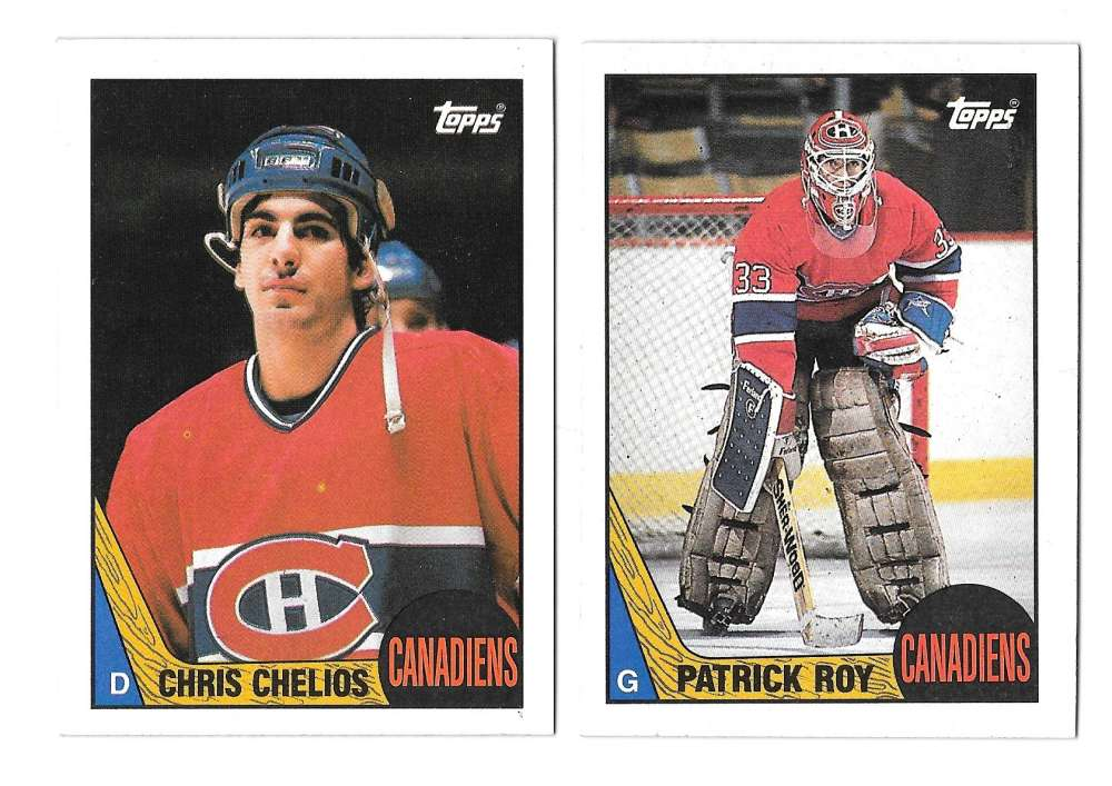 1987-88 Topps Hockey Team Set - Montreal Canadiens