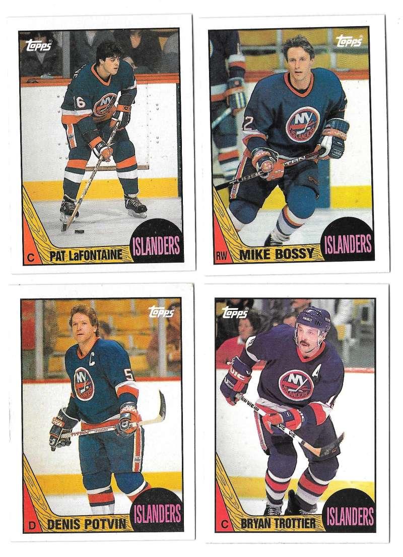 1987-88 Topps Hockey Team Set - New York Islanders
