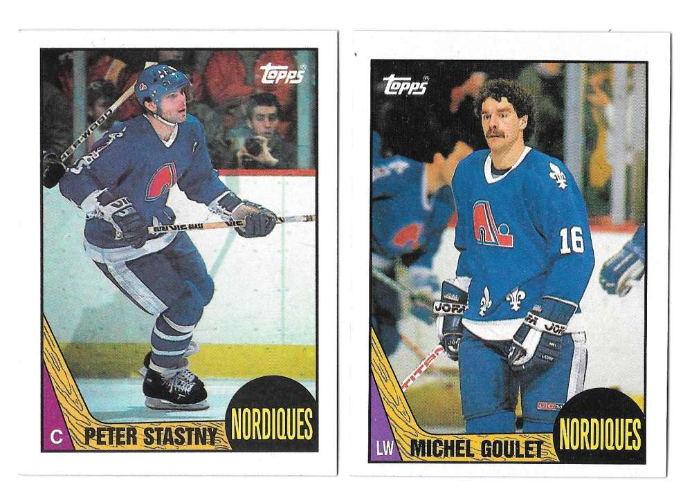 1987-88 Topps Hockey Team Set - Quebec Nordiques