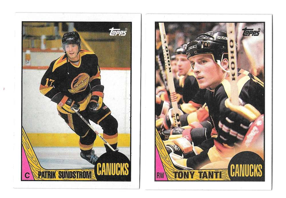 1987-88 Topps Hockey Team Set - Vancouver Canucks