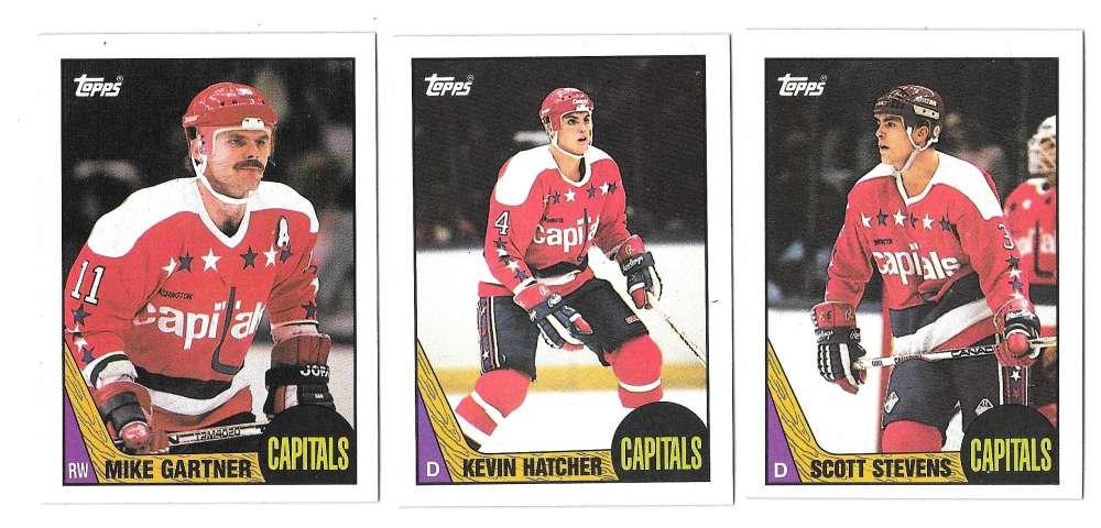 1987-88 Topps Hockey Team Set - Washington Capitals