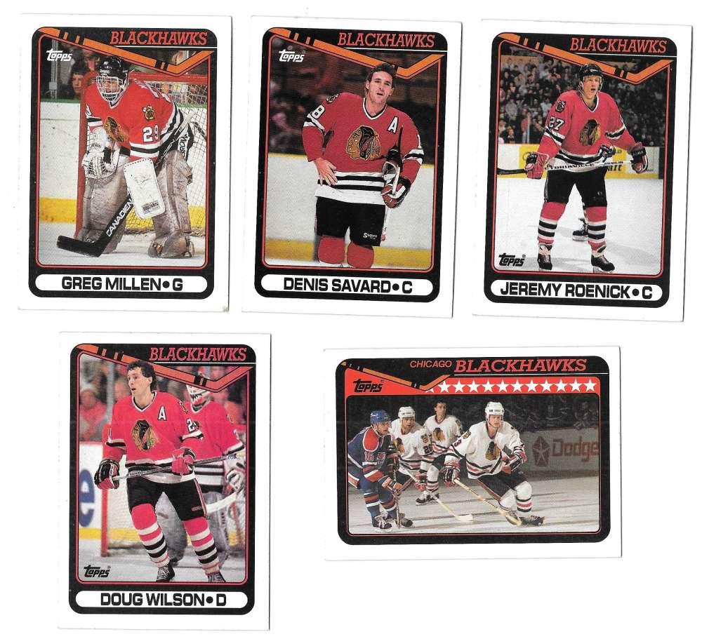 1990-91 Topps Hockey Team Set - Chicago Blackhawks
