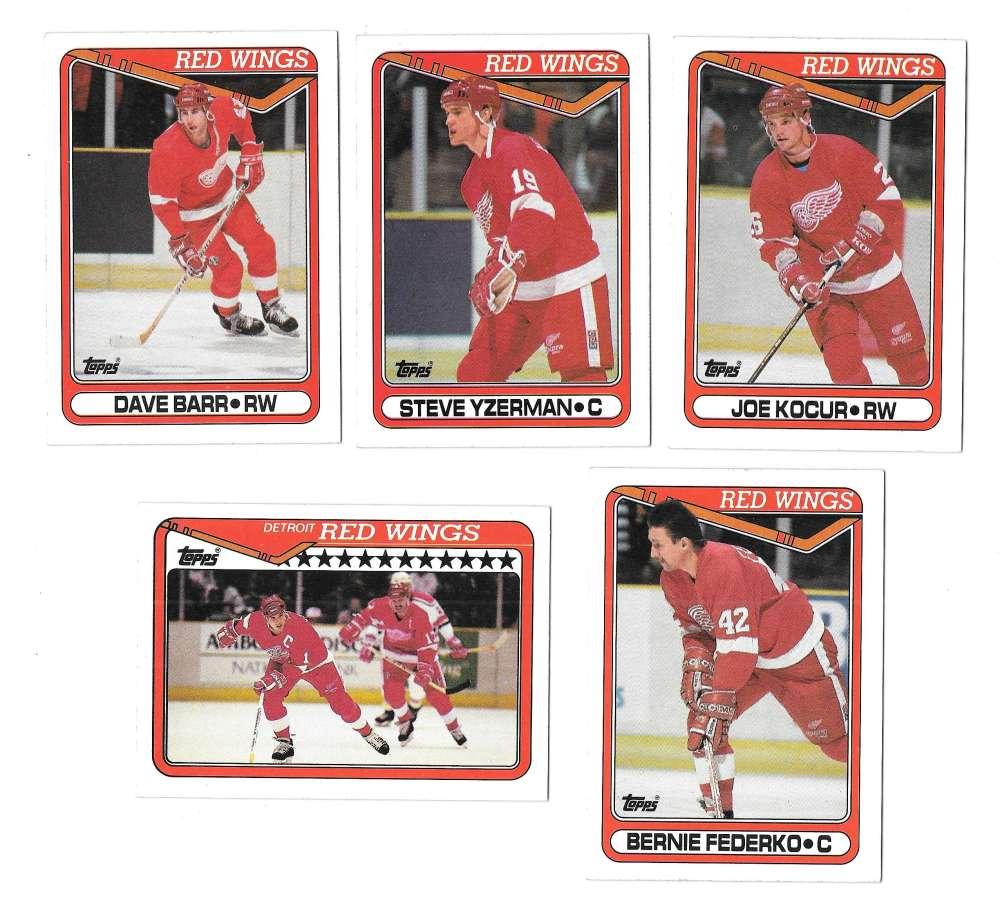 1990-91 Topps Hockey Team Set - Detroit Red Wings