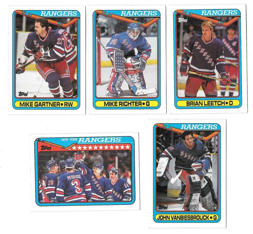 1990-91 Topps Hockey Team Set - New York Rangers