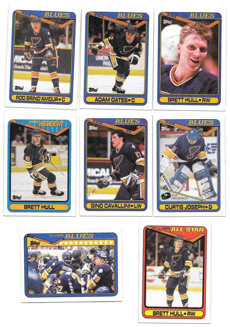 1990-91 Topps Hockey Team Set - St. Louis Blues