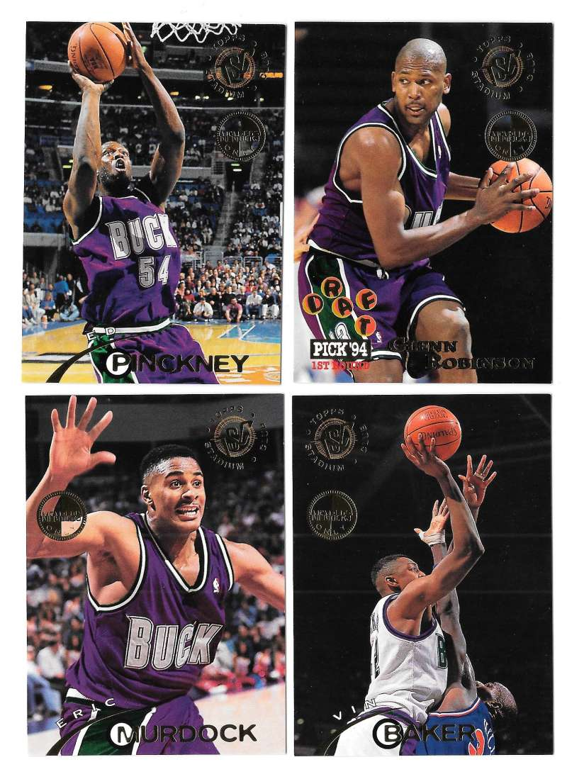 1994-95 Topps Stadium Club Members Only Parallel Basketball Milwaukee Bucks