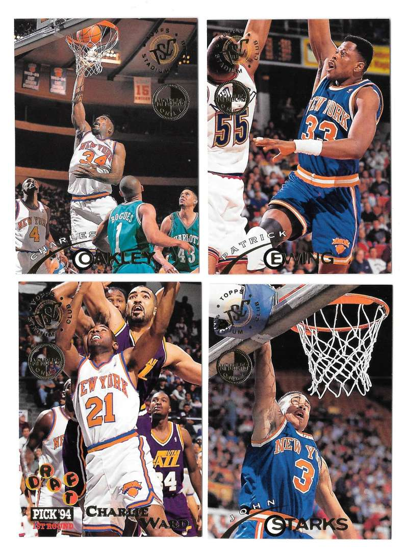 1994-95 Topps Stadium Club Members Only Parallel Basketball New York Knicks