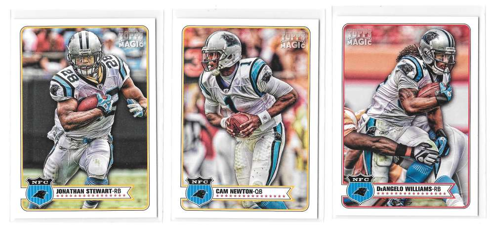 2012 Topps Magic Mini 1-275 Football Team Set - CAROLINA PANTHERS
